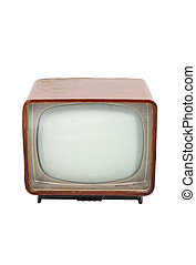 Old wooden television