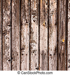 old wooden timber wall