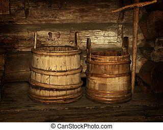 wooden vats