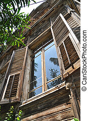 Old wooden villas