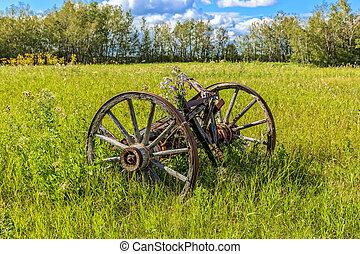 Old Wooden Wagon Wheels