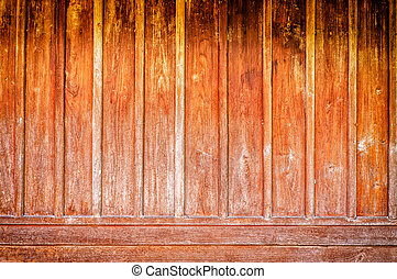Old wooden wal