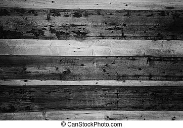 old wooden wall black and white background
