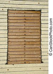old wooden wall with window background