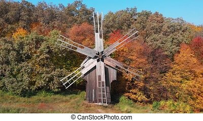Old Wooden Windmill in Ukrainian Countryside - Old, wooden ...