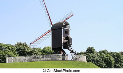 windmill - old wooden windmill
