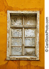 old wooden window in a house