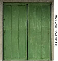 Old Wooden Window Shutters