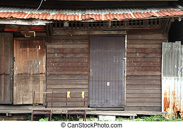 old wooden windows texture
