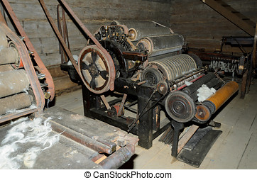Old wool machine
