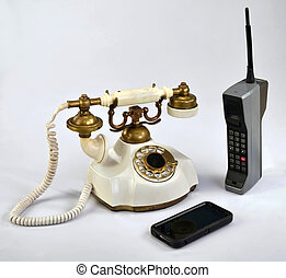 Old working Telephones.