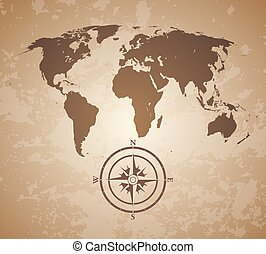 Old vintage world map great detail illustration of the vectors old world map gumiabroncs Image collections