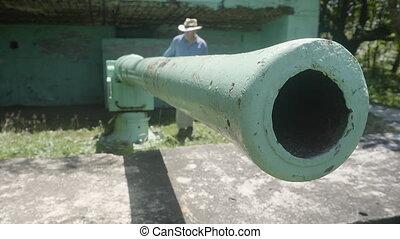 Old world war artillery
