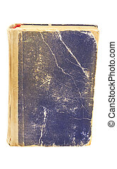 Old worn book isolated