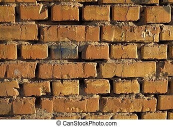 Old worn brick wall