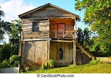 Old Worn Caribbean House