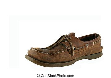 Old worn deck shoe