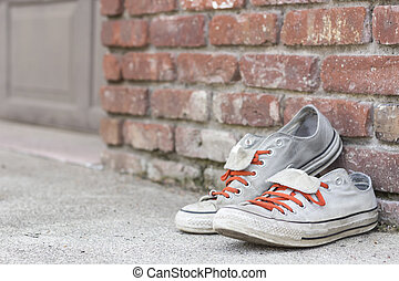 Old Worn Sneakers