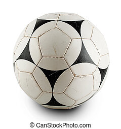 Old worn soccer ball