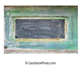 Old worn wooden board