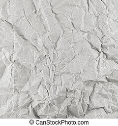 Old wrinkled white paper