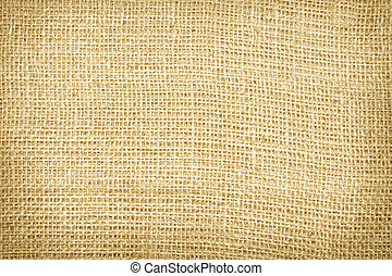 Old yellow burlap background