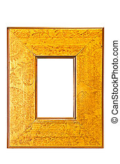 Old yellow frame