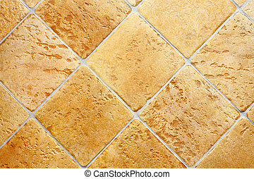 Old yellow tiles