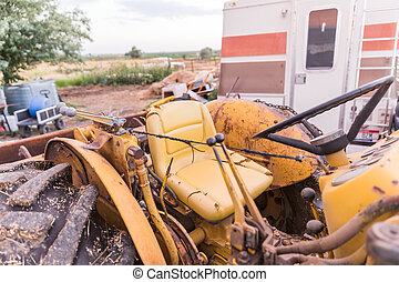 Old Yellow Tractor