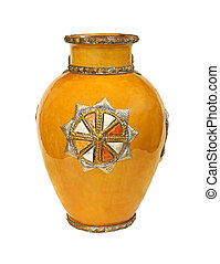 Old yellow vase