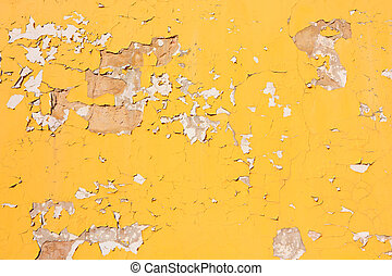 Old yellow wall