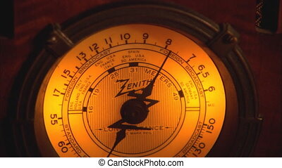 Old Zenith Radio Face Dial