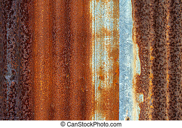 Old zinc sheets retro background - Old zinc sheets begin to ...