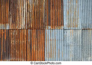 zinc wall - old zinc wall background