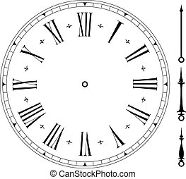 old_clock01 - illustration of an old clock face, eps8 vector