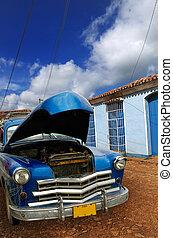 Oldatimer in Trinidad, cuba - A view of vintage classic car...