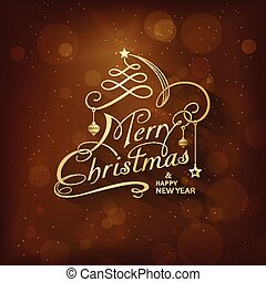 olden Merry Christmas greeting card