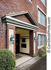 Older Brick Apartment House - Photo of an older brick ...