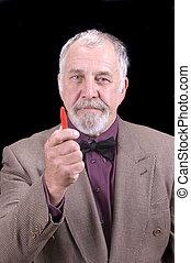 older businessman or professor