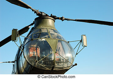 Older german Military Helicopter H-21