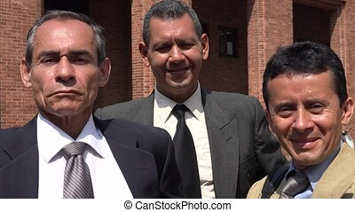 Older Hispanic Male Business Team