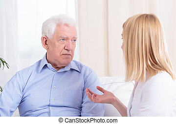 Older man and nurse - Older nice man and young pretty nurse...