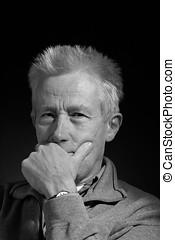 Older man - Serious looking older man