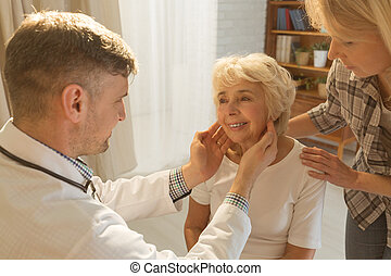 Older woman and examination
