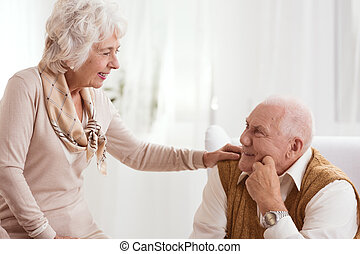 Older woman and man
