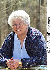 beautiful natural portrait of senior woman.