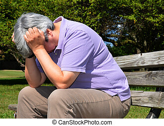 Older woman in despair