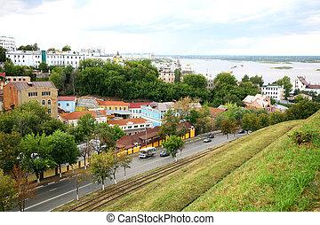 Oldest part of Nizhny Novgorod in Russia