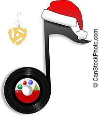 oldies, nota, jako, dovolená, vánoce, hudba, 1