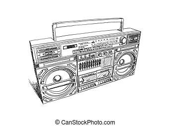 oldschool, boombox